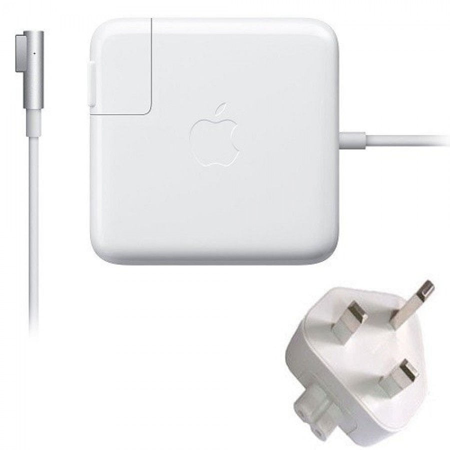 Refurbished Genuine Apple (A1330) Macbook Pro 60-Watts Magsafe Power Adapter, A - White