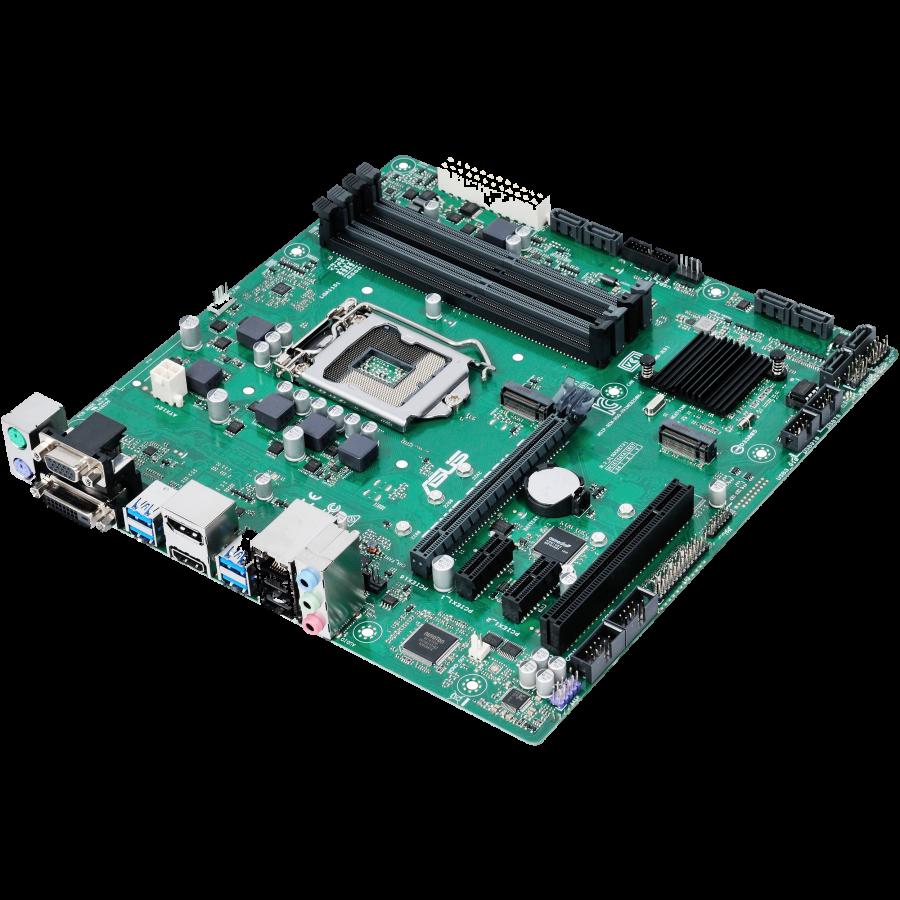 Asus PRIME B250M-C, Intel B250, 1151, Micro ATX, DDR4, VGA, DVI, HDMI, DP, Built for 24/7 Operation