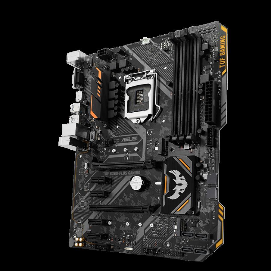 Asus TUF B360M-PLUS GAMING, Intel B360, 1151, Micro ATX, DDR4, DVI, HDMI, RGB Lighting, Dual M.2