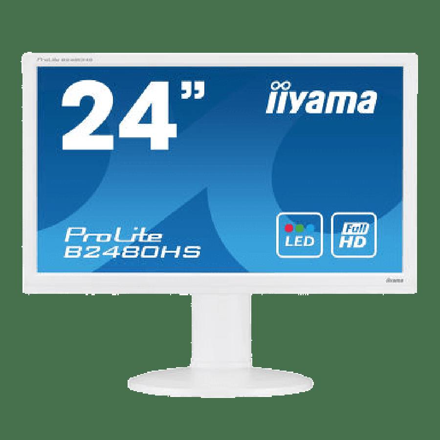 Refurbished iiyama ProLite B2480HS 24'' Full HD 1920 x 1080p LED-backlit Monitor , B
