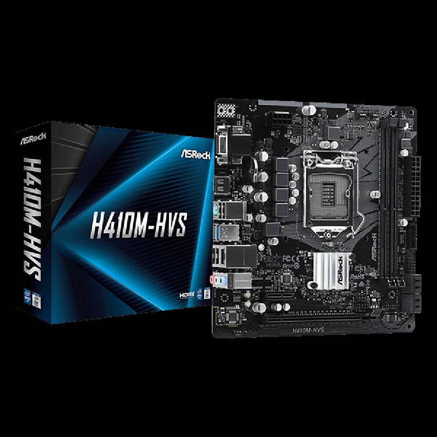 Asrock H410M-HVS, Intel H410, 1200, Micro ATX, 2 DDR4, VGA, HDMI