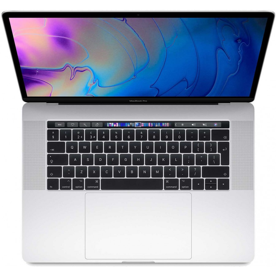 "Refurbished Apple MacBook Pro 15,1/i7-8750H/16GB RAM/256GB SSD/Touch Bar/555x/15"" RD/A (Mid-2018) Silver"