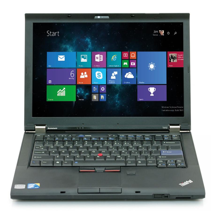 "Refurbished Lenovo ThinkPad T410/i3-350M/2GB RAM/160GB HDD/DVD/14""/Windows 10 Pro/B"