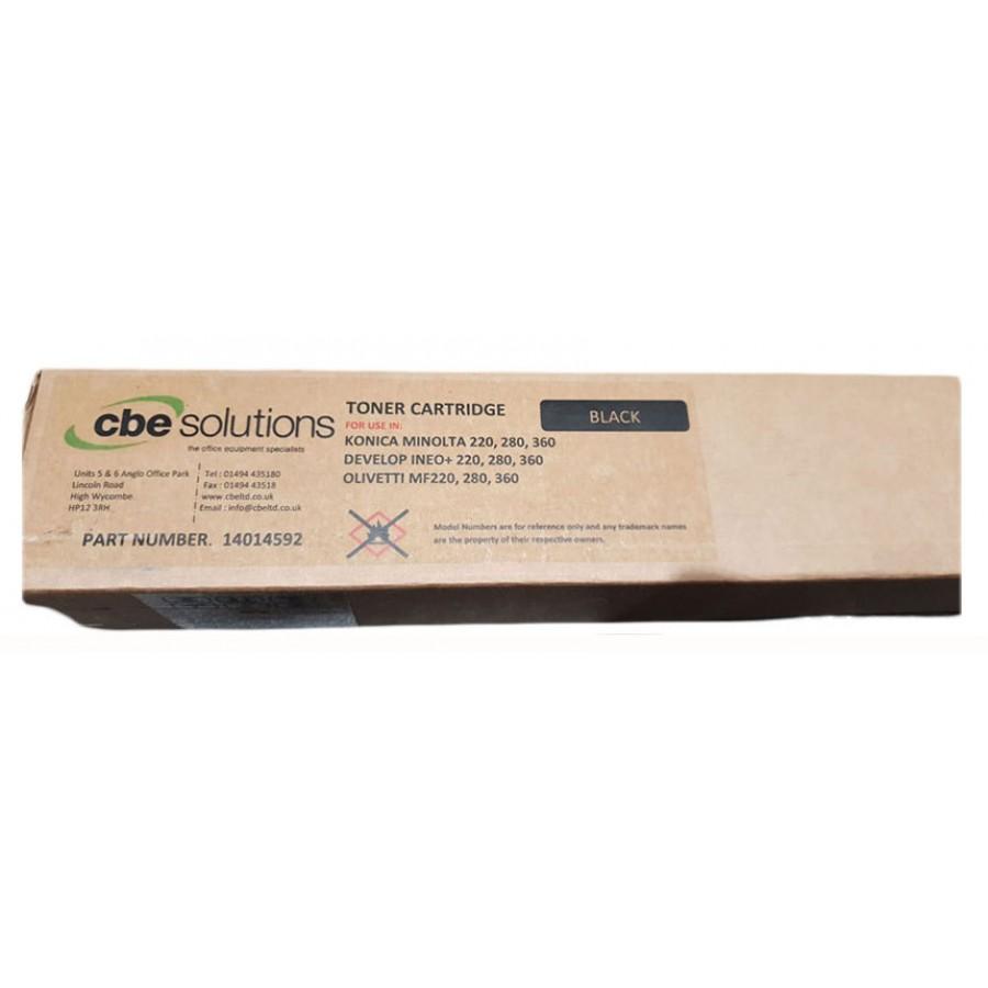 Cbe Solutions Cartridge for use in Konica Minolta c220/c280/c360, Black
