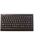 Keysonic ACK-595C+ Wired Mini Keyboard, PS2/USB, Soft Skin Coating - Black