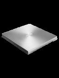 Asus (ZenDrive U7M) External Slimline DVD Re-Writer, USB, 8x, M-Disc Support, Cyberlink Power2Go 8 - Silver