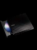 Asus (SDRW-08D2S-U LITE) External Slimline DVD Re-Writer, USB, 8x, Cyberlink Power2Go 7 - Black