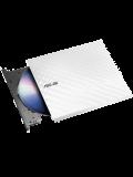 Asus (SDRW-08D2S-U LITE) External Slimline DVD Re-Writer, USB, 8x, Cyberlink Power2Go  8 - White