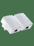 TP-LINK (TL-PA4010KIT V3) AV600 10/100 Powerline Adapter Kit, 1-Port
