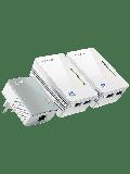 TP-LINK (TL-WPA4220T KIT) 300Mbps AV600 Wireless N Powerline Adapter Triple Kit - White