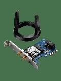 Asus (PCE-AC55BT) AC1200 (300+867) Wireless Dual Band PCI Express Adapter, Bluetooth 4.0, Ext Antenna Base