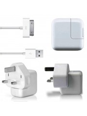 Refurbished Genuine Apple iPad 2 USB Mains Charger With USB Cable, A - White