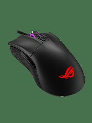 Asus ROG Gladius II Core Gaming Mouse, 200-6200 DPI, Lightweight, Ergonomic,RGB Lighting - Black