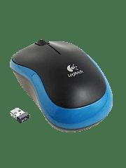 Logitech M185 Wireless Notebook Mouse - Black & Blue