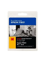 Kodak Remanufactured Epson T1801 12ML Inkjet Ink - Black