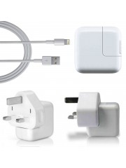 Refurbished Genuine Apple iPad 4 & Mini Mains Charger with Data Cable, A - White