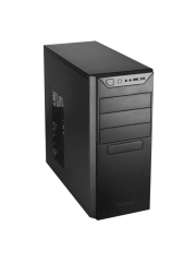 Antec VSK4000B U3/U2 ATX Case, No PSU, 12cm Fan, USB 3.0, Black with Black Interior