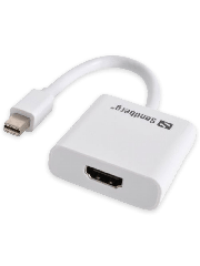 Sandberg Mini DisplayPort Male to HDMI Female Converter Cable - White