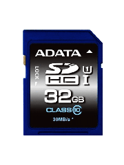 ADATA Premier 32GB High Capacity SD Card, UHS-I Class 10, R/W 50/10 MB/s