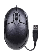 Compoint Wired Optical Laptop Mouse, USB, 1000 DPI, 3/4 Size - Black