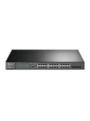 TP-Link (T2600G-28MPS) JetStream 24-Port Gigabit L2 Managed POE+ Switch with 4 SFP Slots