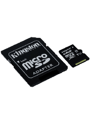 Kingston 64GB Canvas Select Micro SDXC Card with SD Adapter - Class 10