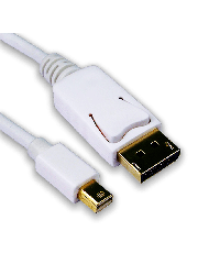 Sandberg  2-Metre Mini Display Port Male to Display Port Male Converter Cable - White
