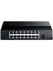 TP-LINK (TL-SF1016D) 16-Port 10/100Mbps Unmanaged Desktop Switch, Plastic Case