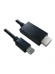 Spire Mini DisplayPort Male to HDMI Male Converter, 1 Metre - Black