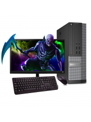 Incredibly Fast Dell Gaming Bundle Tower PC Full Set Intel Core i3 8GB RAM 1TB HDD GT 710