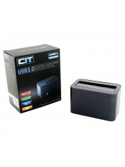 CiT - U3HD01 USB3.0 External Hard Drive Docking Station - Dark Grey