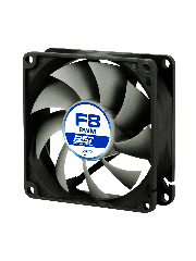 Arctic F8 8CM PWM PST Case Fan, Fluid Dynamic - Black & White