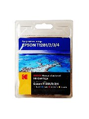 Kodak Remanufactured Epson T12815 Inkjet Ink Combo Pack 16.4ML - Black