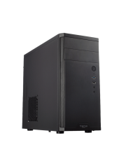 Fractal Design Core 1100 Compact Micro ATX Case, No PSU, 12cm Fan, Brushed Aluminium-look