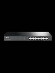 TP-Link (TL-SG1024D) 24-Port Gigabit Unmanaged  Desktop/Rackmount Switch, Steel Case