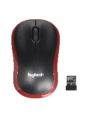 Logitech M185 Wireless Notebook Mouse - Black & Red