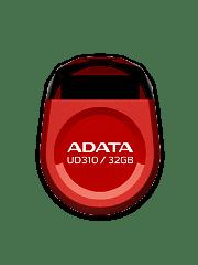 ADATA 32GB USB 2.0 UD310 Dashdrive Durable Memory Pen Micro, Rugged - Red
