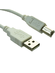 Sandberg USB 2.0 2-Metres A to B Printer Male to Male Cable - White