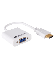 Sandberg 25CM HDMI Male to VGA Female Converter Cable - White