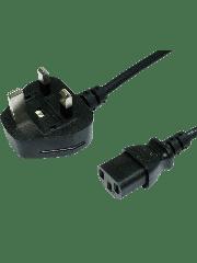 Spire UK Power Lead, Kettle Lead, Moulded Plug, 1.8-Metres - Black