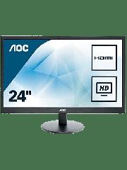 Brand New AOC e2470Swhe 23.6-inch Widescreen TN LED Monitor-Black (1920x1080/5ms/VGA/2xHDMI)
