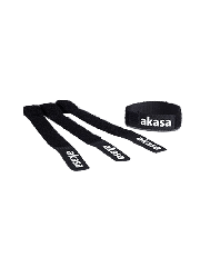 Akasa Re-Usable Velcro Cable Ties, Black, Self-fastening, Pack of 5