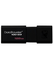 Kingston 128GB USB 3.0 Memory Pen DataTraveler 100 G3 Sliding Cap - Black