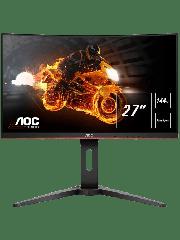 Brand New AOC C27G1 27-inch Widescreen VA LED Curved Monitor-Black/Red (1920x1080/1ms/VGA/2xHDMI/DP)