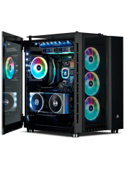 Corsair Crystal Series 680X RGB Gaming Case with Tempered Glass Window, E-ATX, Dual Chamber, 3 x LL120 RGB Fans
