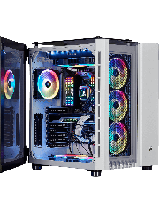 Corsair Crystal Series 680X RGB Gaming Case with Tempered Glass Window, E-ATX, Dual Chamber, 3 x LL120 RGB Fans, White
