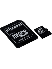 Kingston 32GB Haigh Capacity Micro SD Card with SD Adapter - Class 4