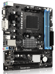 Asrock 760GM-HDV, AMD 760G, AM3+, Micro ATX, 2 DDR3, VGAA, DVI, HDMI, 125W CPU Support