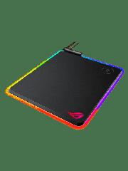 Asus ROG Balteus RGB Gaming Mouse Pad - Black with Qi Wireless Charging - Black