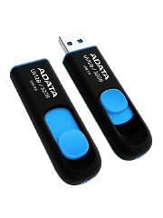 ADATA 32GB USB 3.0 Memory Pen Retractable Capless - Black & Blue